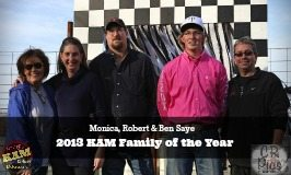 Kelley and Mike with the 2013 KAM Family of the Year Monica-Robert-Ben Saye-feature img